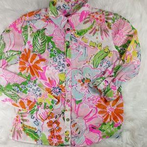 Lilly Pulitzer  Women's White Floral Print Shirt S